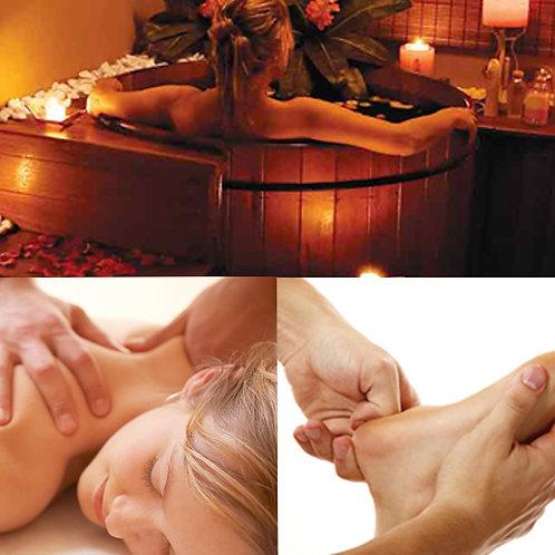 Ofurô + Massagem 1h30 + Limpeza de Pele