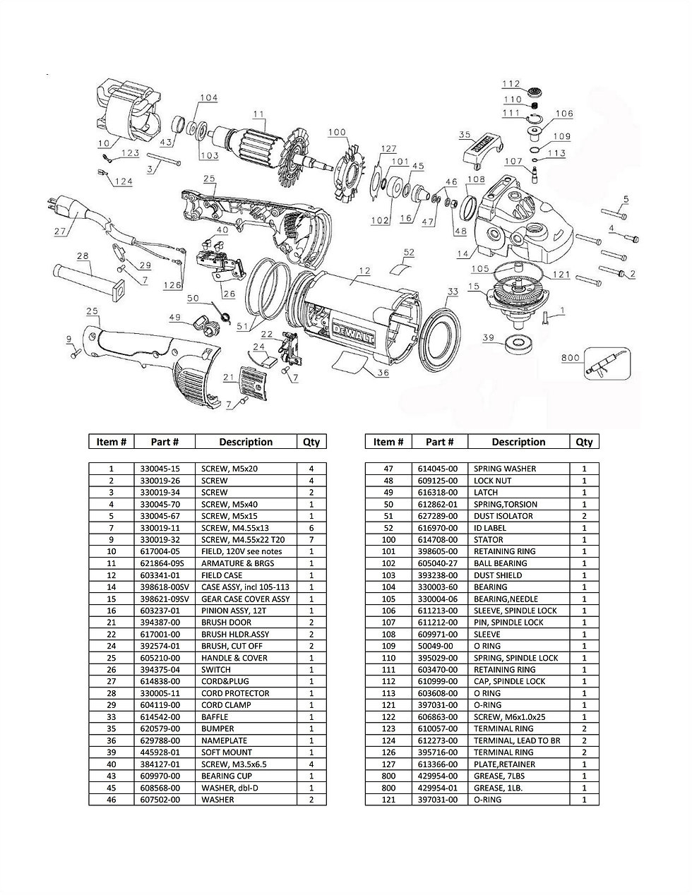 DDM DC-6000D Parts Schematic