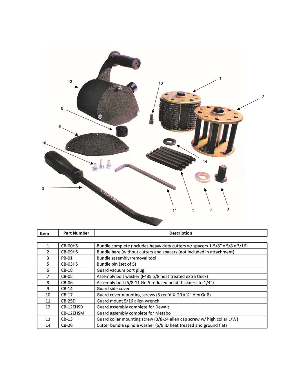 DDM DC-6600MetV Attachment Parts Schematic