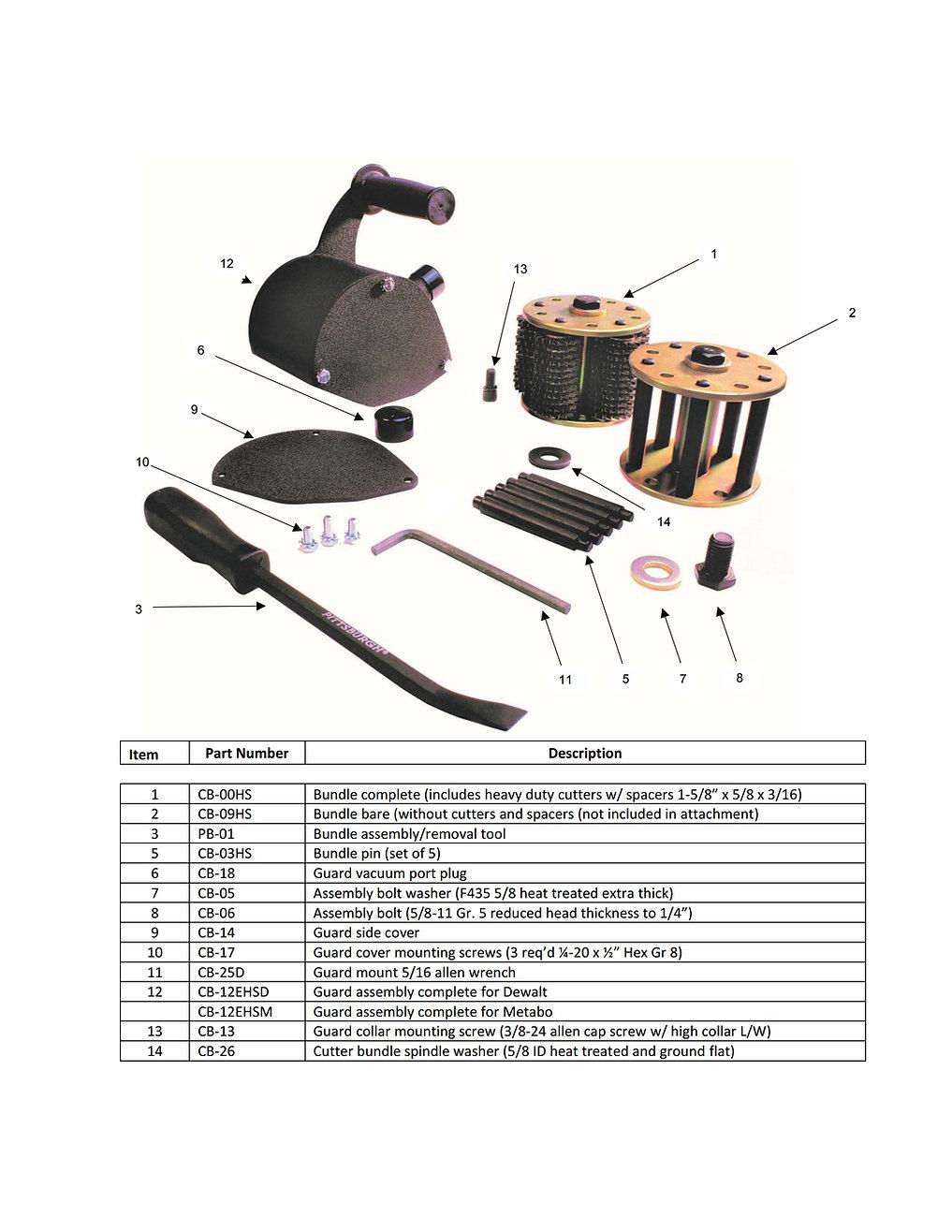 DDM DC-6000D Attachment Parts Schematic