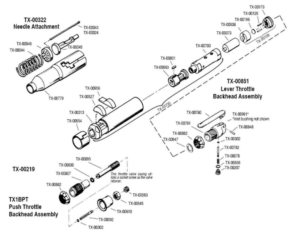 Air Needle Scaler parts schematic