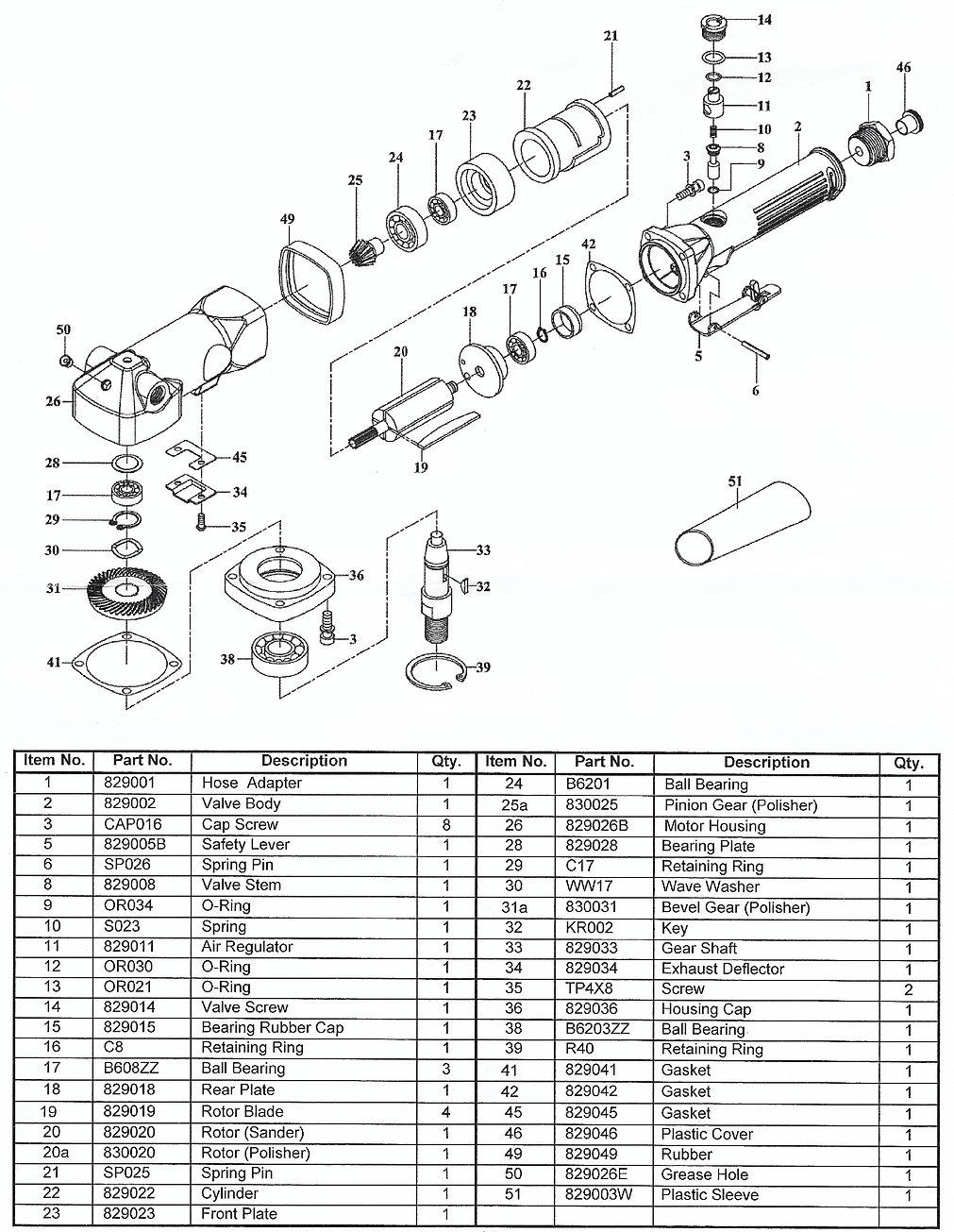 DDM DC-2500GP Parts Schematic