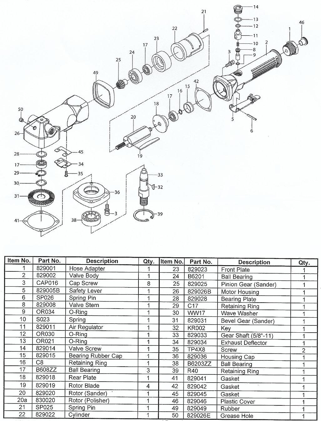 DDM DC-4500GP drive motor parts schematic