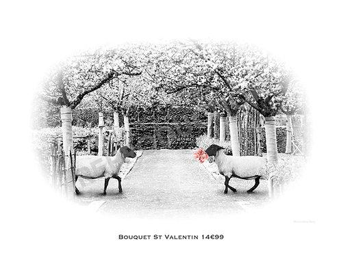 Bouquet St Valentin 14€99 (Gd Format) 40x55 cm