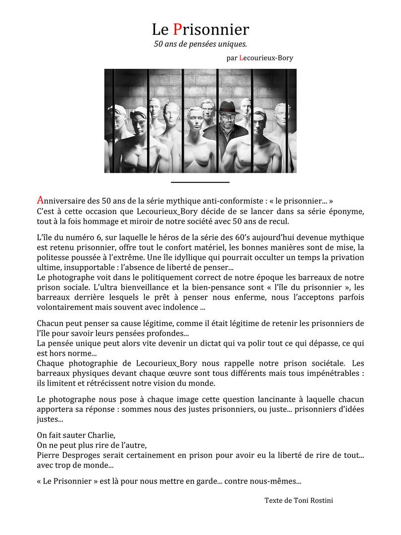 """Présentation """"Le Prisonnier"""""""
