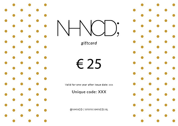 Giftcard Gold Dots | €25