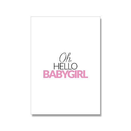 Babygirl postcard A6