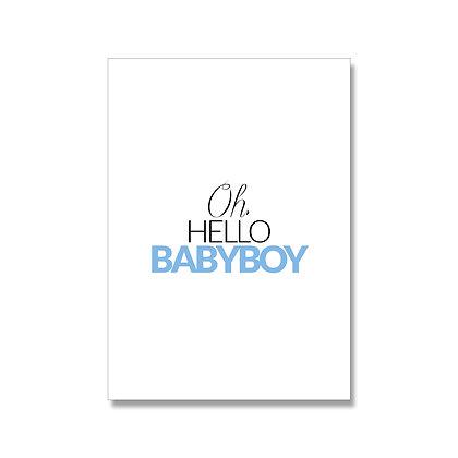 Babyboy postcard A6