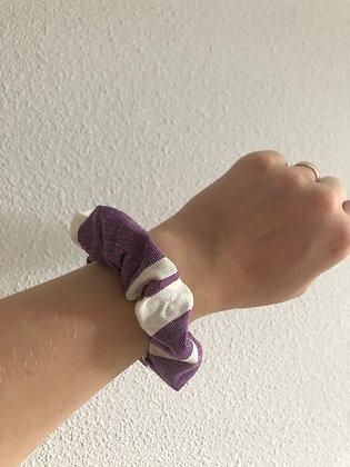 Purple Stripe Mix | Sustainable Scrunchie