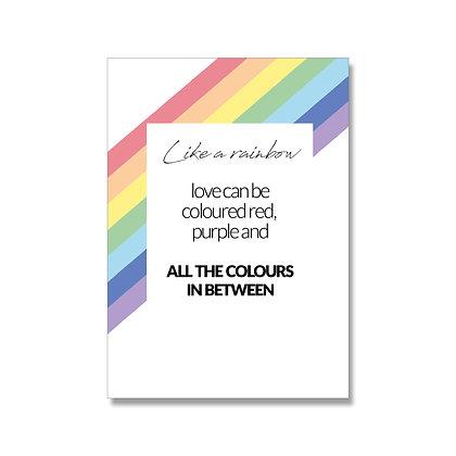 Like a rainbow postcard A6