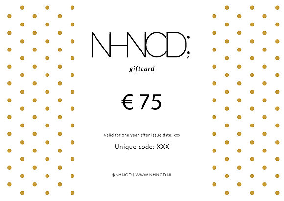 Giftcard Gold Dots   €75