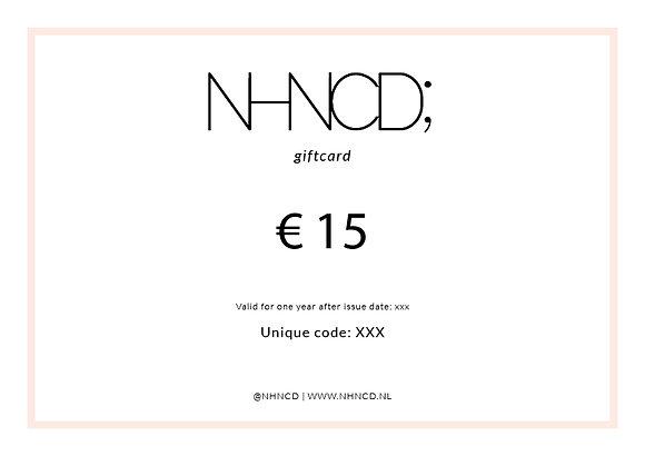 Giftcard Minimalistisch   €15