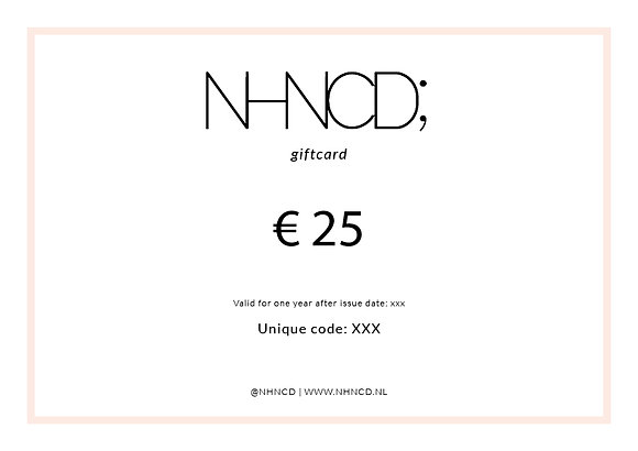 Giftcard Clean | €25