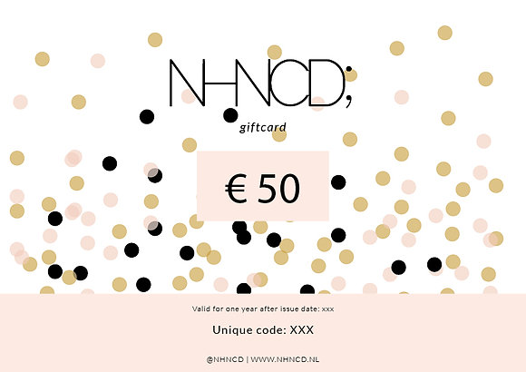 Giftcard Confetti Mix | €50