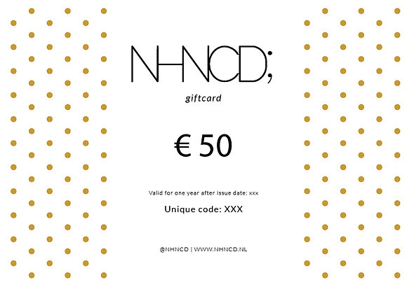 Giftcard Gold Dots   €50