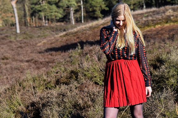 Romantic Red Skirt