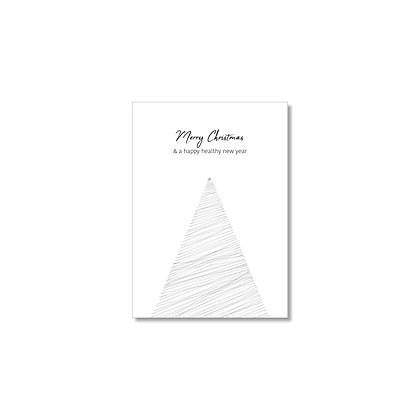 "Christmas cards ""TREE"" (10 pcs) incl. recycled envelopes"