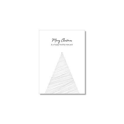 """Kerstkaart """"TREE"""" (10 stuks) incl. gerecyclede enveloppen"""