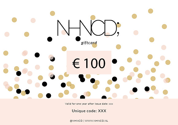 Giftcard Confetti Mix | €100