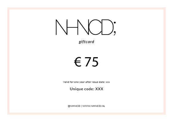 Giftcard Clean | €75