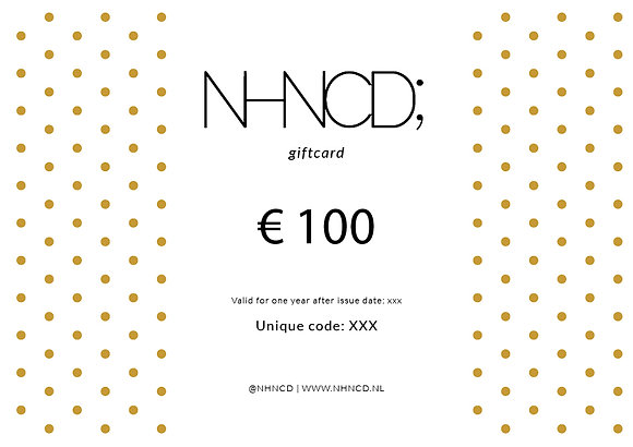 Giftcard Gold Dots | €100