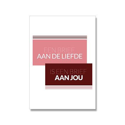 Een brief aan de liefde postcard A6