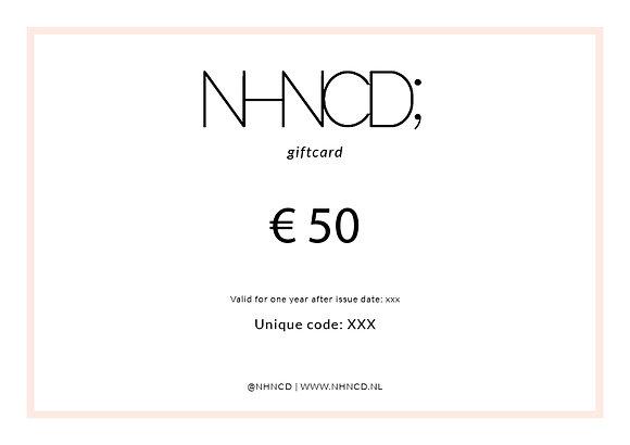 Giftcard Minimalistisch | €50