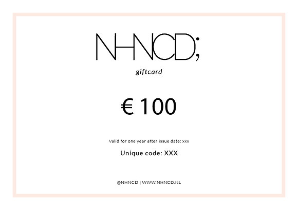 Giftcard Clean | €100