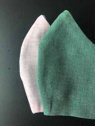 Pink x Greenery | Reversible face mask