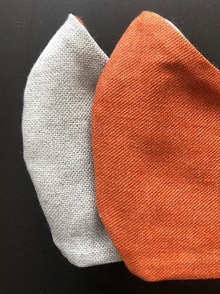 Brick Orange x Light Denim | Reversible mondkapje