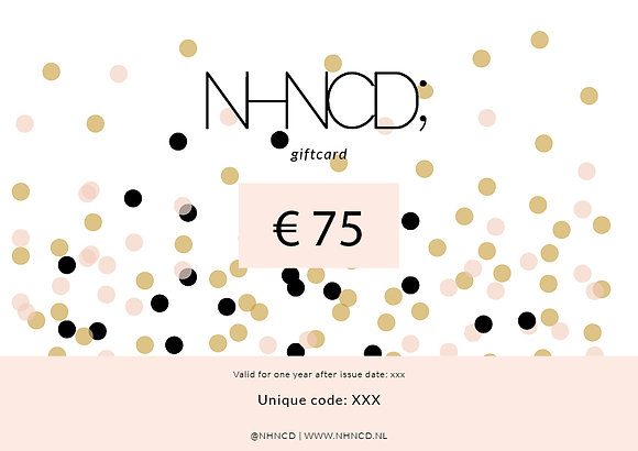 Giftcard Confetti Mix | €75