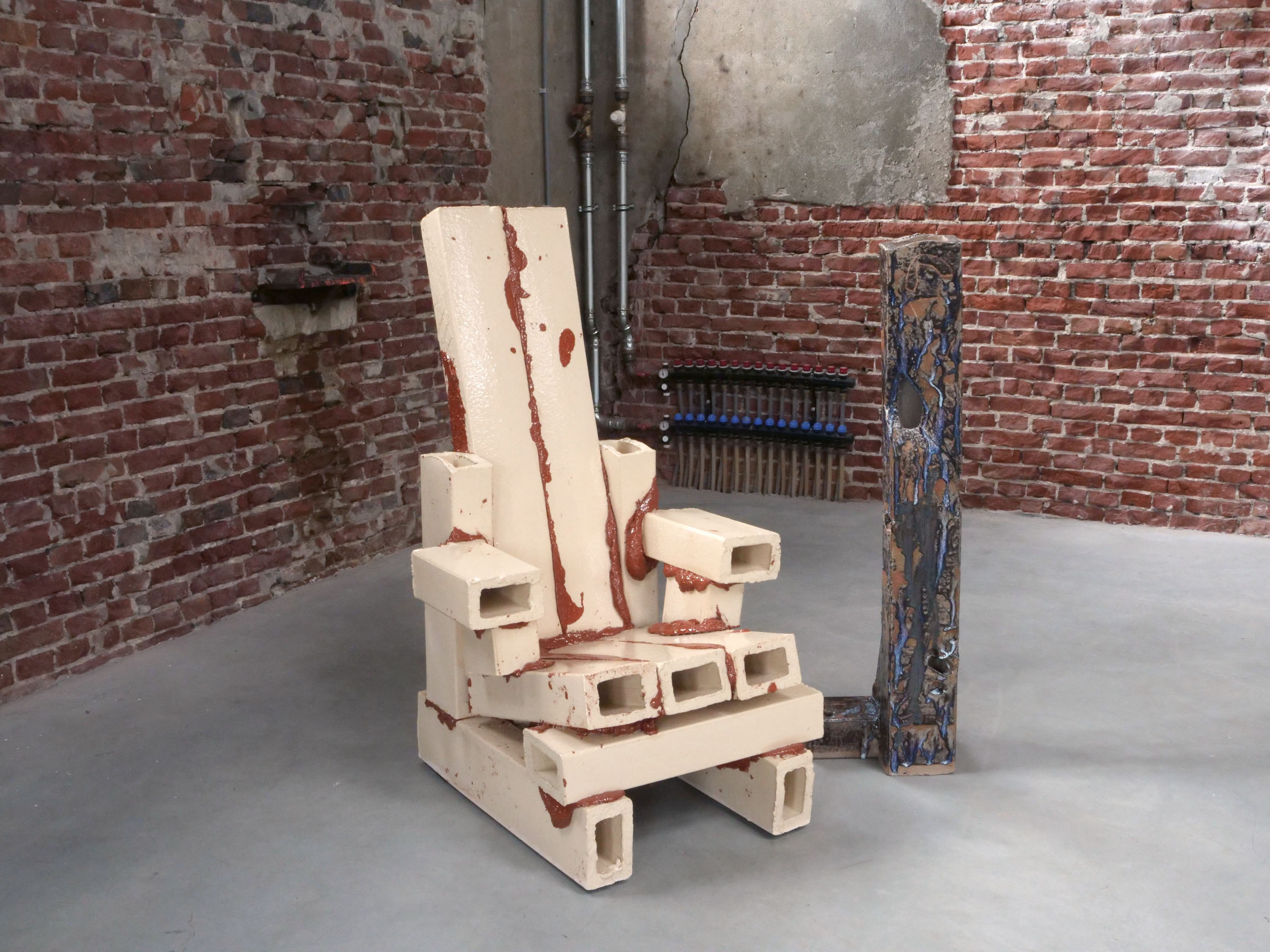 Rietveld chair brutal version - clay, gl