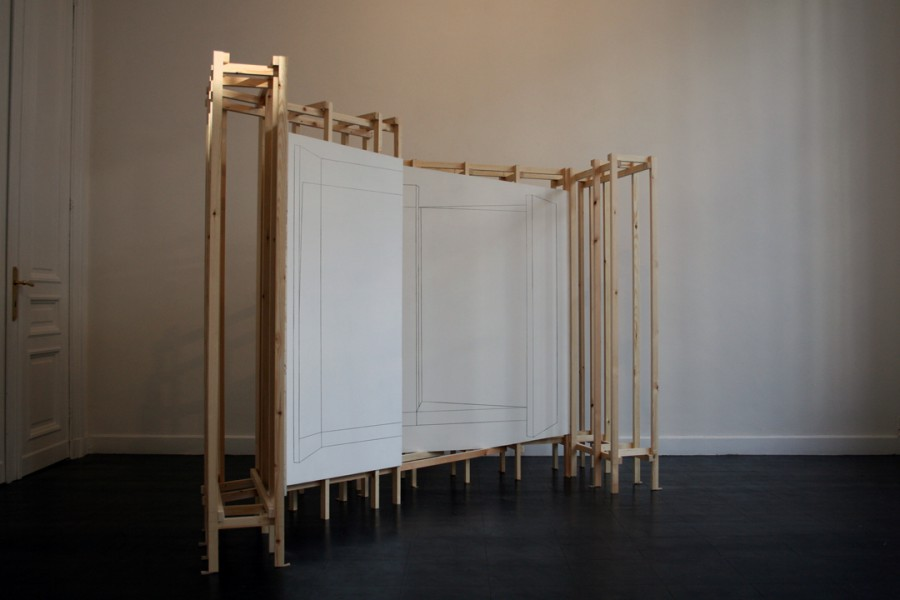 A structure for a drawing and a drawing for a structure