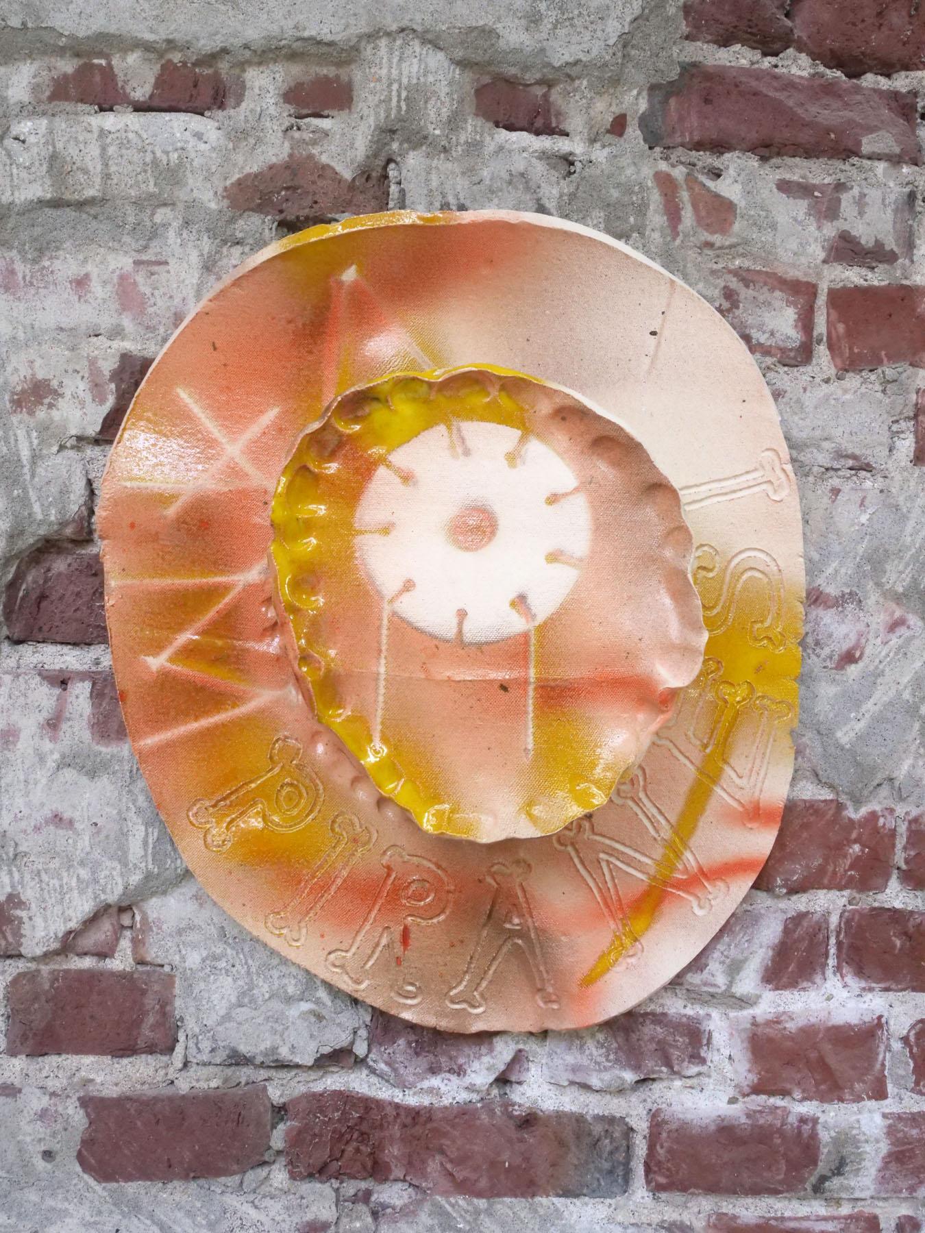 Vampiranesi - clay, glaze - 48Hx42x13 cm