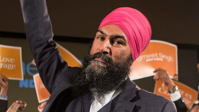 Jagmeet Singh after winning the federal NDP leadership.