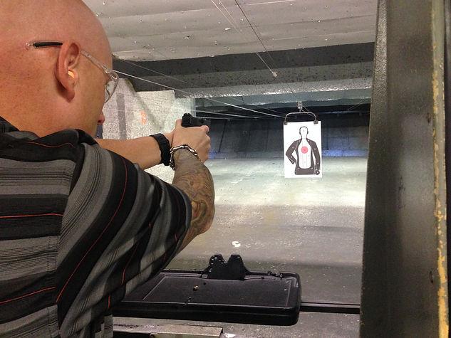 Shooting at Big Al's Gun Range
