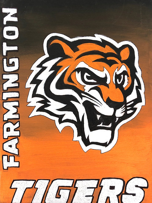 Give Back to Your School! Farmington Tigers Painting
