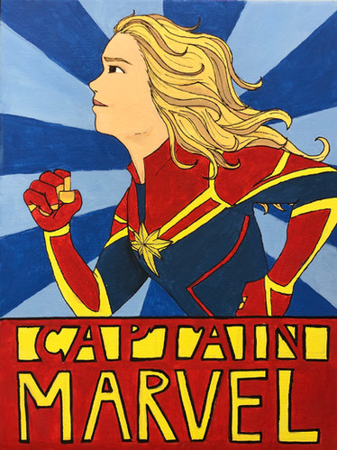 Captain Marvel Painting.HEIC