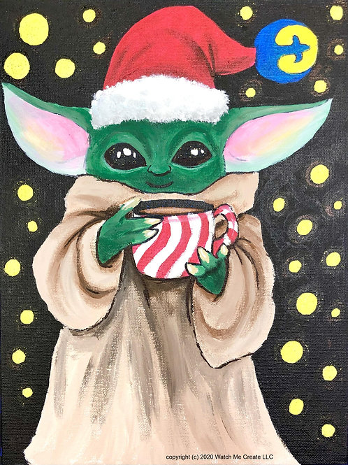 Baby Yoda Painting