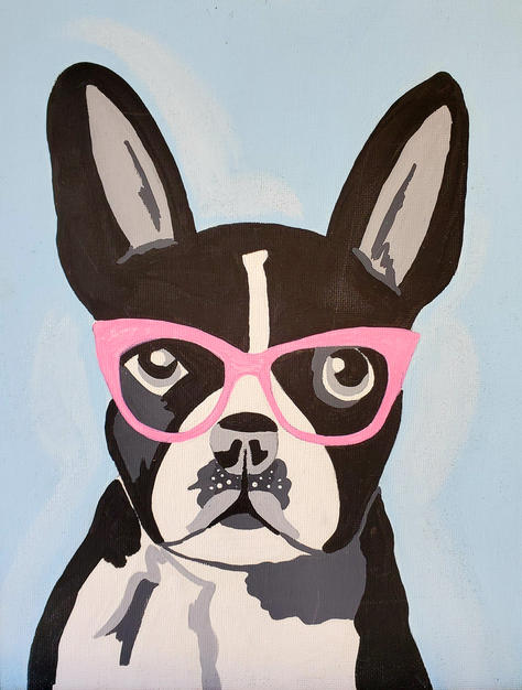 French Bulldog with Glasses