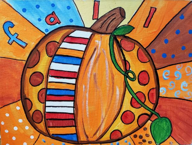 Quilted Pumpkin Painting.JPG