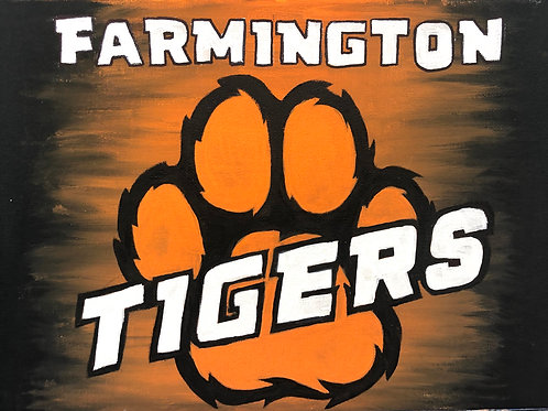 Give Back to Your School! Farmington Paw Painting
