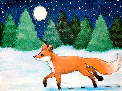 Winter Fox Painting