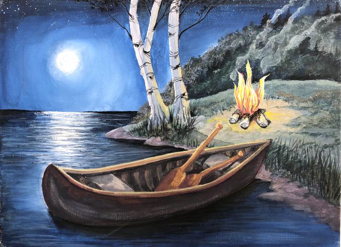 Moonlit Canoe Painting.jpg