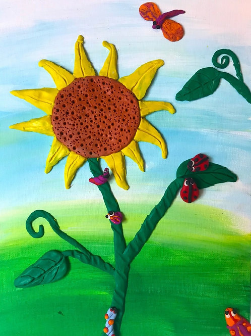 Sunflower & Bug Clay Project