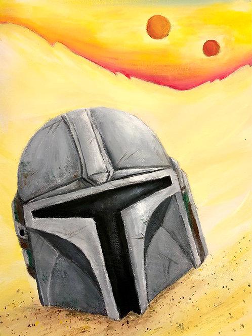 Mandalorian Helmet Painting