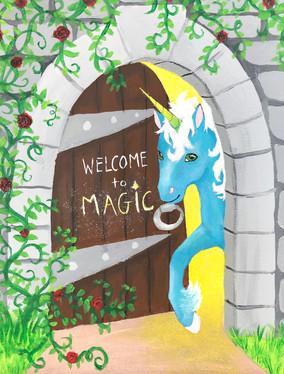 Magical Door with Blue Unicorn.jpg