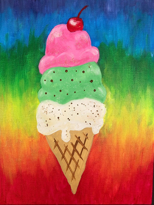 Ice Cream Cone Paint Project