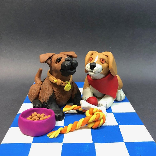Time for Dinner! Puppy Clay Project