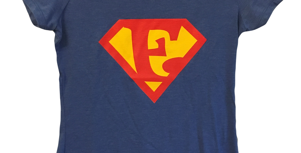 "Women's T-Shirt Super E Short Sleeve ""Empathy is My Superpower"" V Neck"
